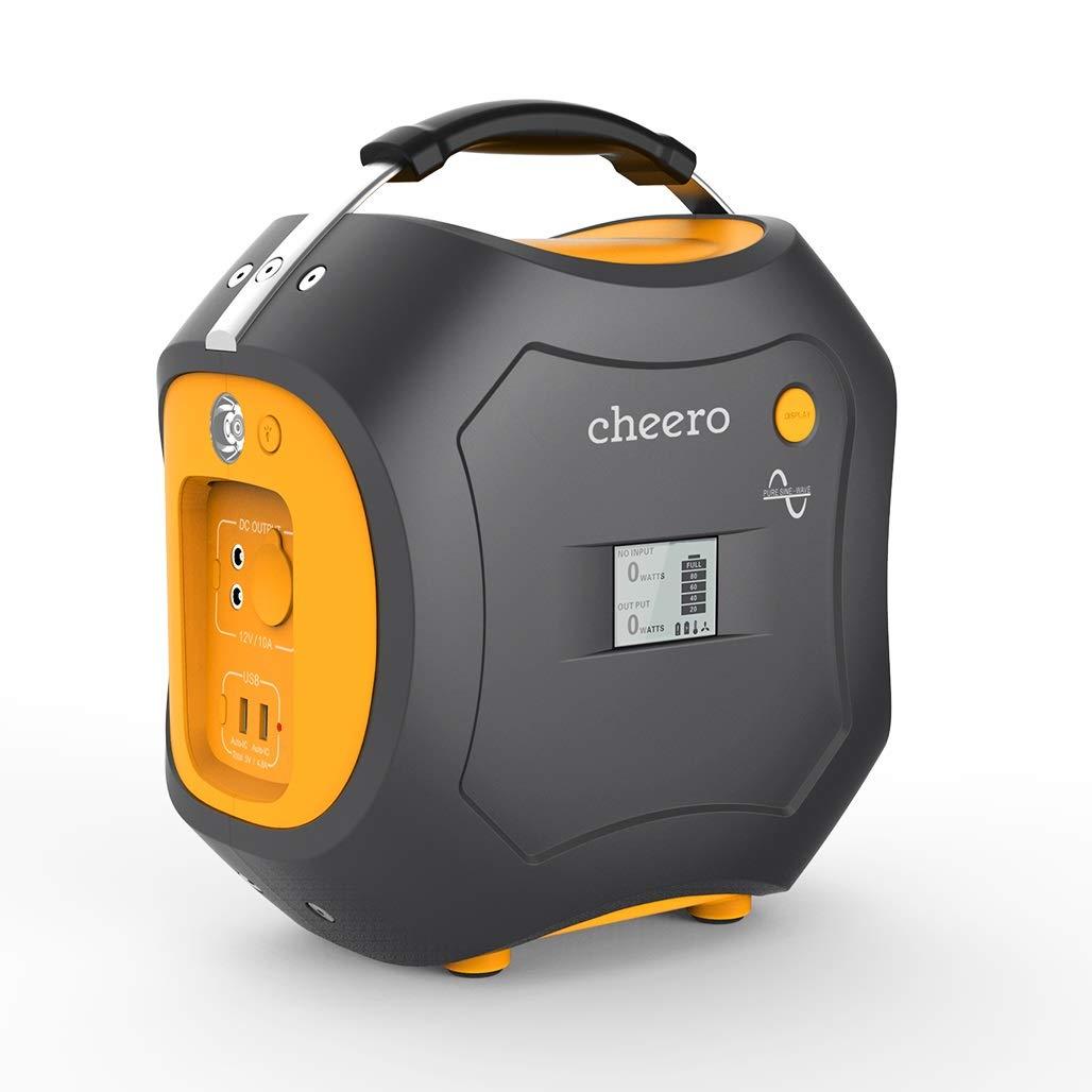 周波数60Hz 139,200mAh/ 正弦波 静音 LEDライト付きcheero Energy Carry 500Wh