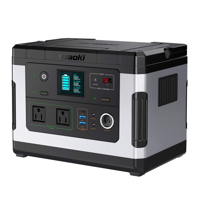 137700mAh/500Wh PSE認証済み 純正弦波suaoki ポータブル電源 G500